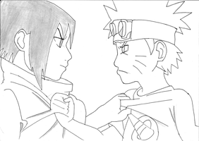 Naruto and Sasuke by ZeeShiKing