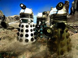 DALEK DESERT ADVANCE by ThrashBarstool