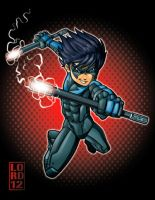 Arkham City: Nightwing by lordmesa