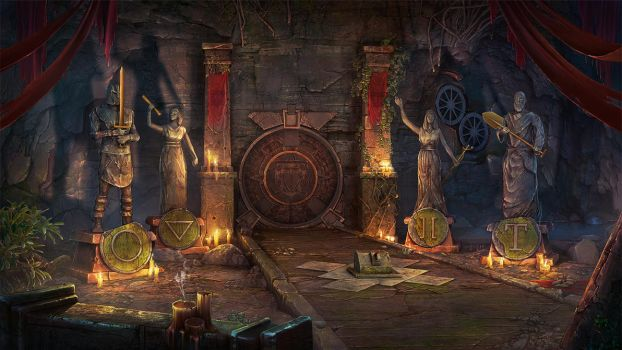 Sacred Almanac: Traces of Greed (2014)-Game scene by Gell4