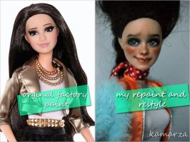 Rachelle repaint and restyle before and after by kamarza