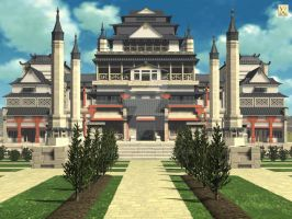 Asian palace by L0rdDrake