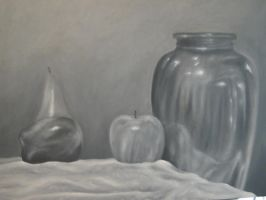 Grisaille Still Life by Wolf-Daughter