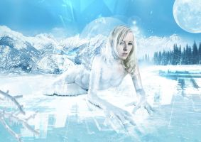 ice lady 2 by double-graphic