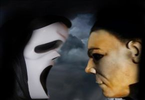 GHOST FACE VS MICHAEL by Darkness-Man
