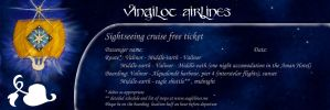 Vingilot airlines free ticket by MirachRavaia