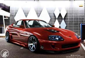 Red Toyota Supra by NotrunOne