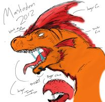 Kaiju Sketch: MASTADON 2012 by Retro-D64