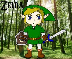 Adult Link with Background by NiGHTSfanKevin