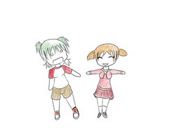::Request 1 - Chiyo and Yotsuba:: by Batty-Brandyn
