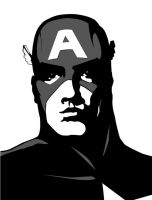 Captain America - bw by Agent-Foo