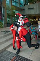 Harley Quinn and one of her Quintets. by vandersnark