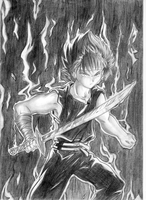 Hiei FIRE by hakeshsama