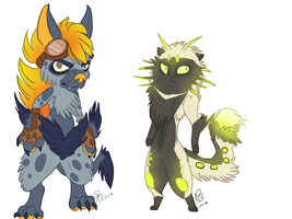 flora critters! by valhyena