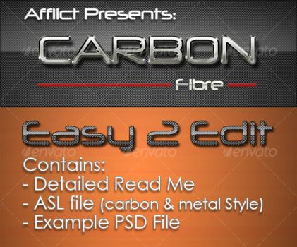 Carbonfibre Photoshop Styles by DiabolicalOne