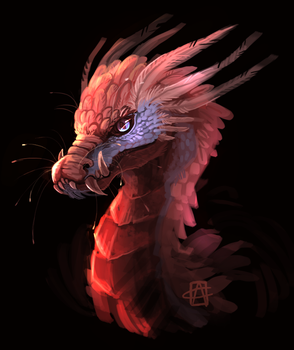Dragon_1 with speedpaint! by griffsnuff