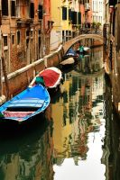 Venice - canal reflections 1 by wildplaces