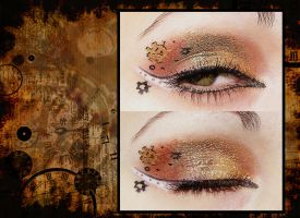 Steampunk make-up by OrderOfShadows