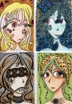 Zentangle Faces by ParaKavka