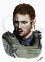 Chris Redfield (Resident Evil 6) color by Saxa-XCII