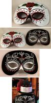 Day of the Dead Wedding Masks by ajldesign