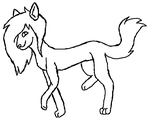 F Sparkle Dog Lineart by Meowing-Kitty-Artist