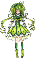 Cloud Precure [Green Cure] by Chancetodraw