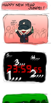 Persona 3 - Happy New Year Junpei ! by Yuki-Namida