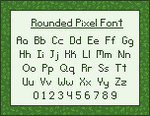 Rounded Pixel Font by stuck-in-suburbia