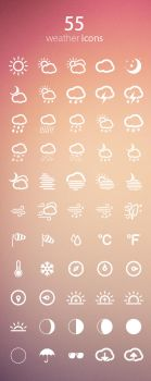 55 Weather Icons by mygreed