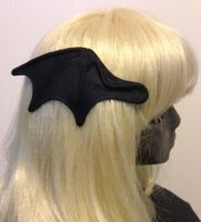 Bat wing hair clips by silverfaction