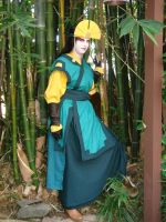 Avatar Kyoshi in the Bamboo by gowa