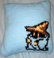 Black Mage Throw Pillow by onemillionjellybeans