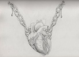 Heart tattoo design (realistic) by MadPorcupine