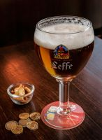 Leffe,  it's cold and tastes great... by margatt