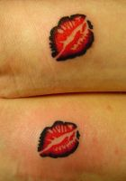 Lips Tattoos by patchwork-steve