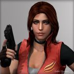 Claire Redfield Render 1 by Isobel-Theroux