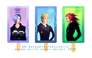 KH bookmarks.keychains set 2 by cheesynoodle
