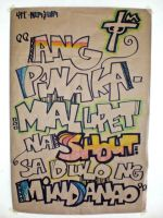 shout poster by eggay
