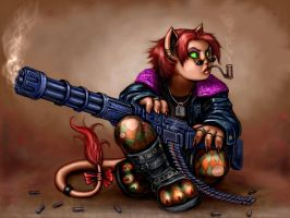 Catgirls With Guns by SirTiefling