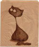 Paper bag cat by scarlettcat