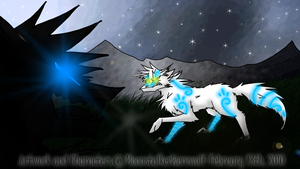 Odin and Whitetail by MoonstalkerWerewolf