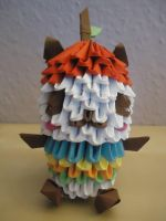 3D Origami - Pandapple - 1 by Mixowelle