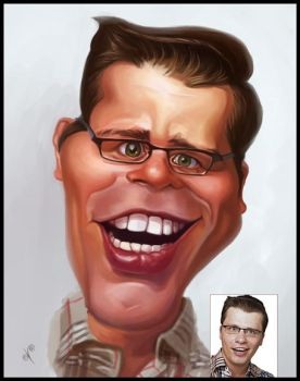 Caricature for an artist by creaturedesign