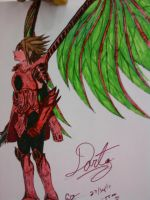 Dart from The Legend of Dragoon colored in markers by Katerishi-san
