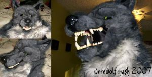 Halloween 2007- werewolf mask by FriskyJackal