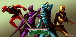 TMPUM DEADPOOLS by helioart