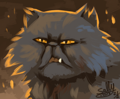 Yellowfang by Sally-Ce