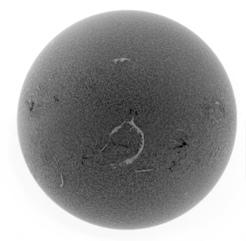 Solar disc in H-alpha by GreatAttractor