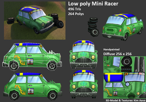 Low poly Mini Racer by Mad-Owl